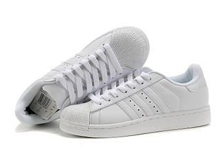 Кроссовки в стиле Adidas Superstar II All White, фото 2