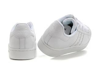 Кроссовки в стиле Adidas Superstar II All White, фото 3