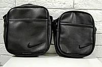 Сумка Nike через плечо чёрная из искусственной кожи