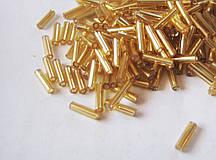 Стеклярус золотой 6,5 мм 110г