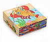 Деревянные кубики Морские животные