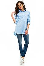 Рубашка 235 синяя якорь