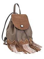 554119 Сумка - рюкзак, коричневый с бахромой, 25*21,5*21 Weekend