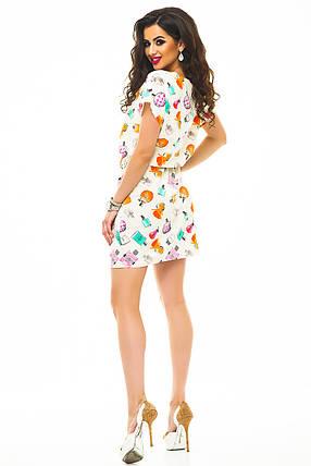 Платье 325 с кулиской_бежевое, фото 2