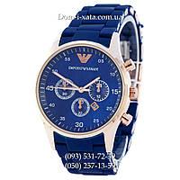 Мужские часы Emporio Armani blue-gold, элитные часы Эмпорио Армани синие-золото