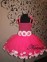 Юбка-платье ту-ту из фатина с лепестками, фото 3