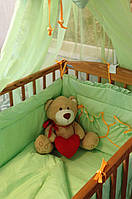 """Комплект постельного белья для новорожденного микрофибра """" Салатовый"""""""
