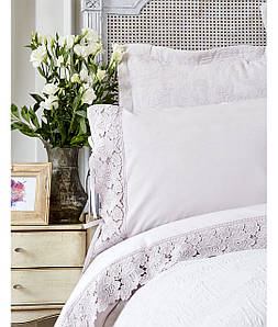 Набор постельного белья с покрывалом Karaca Home Liza лиловая
