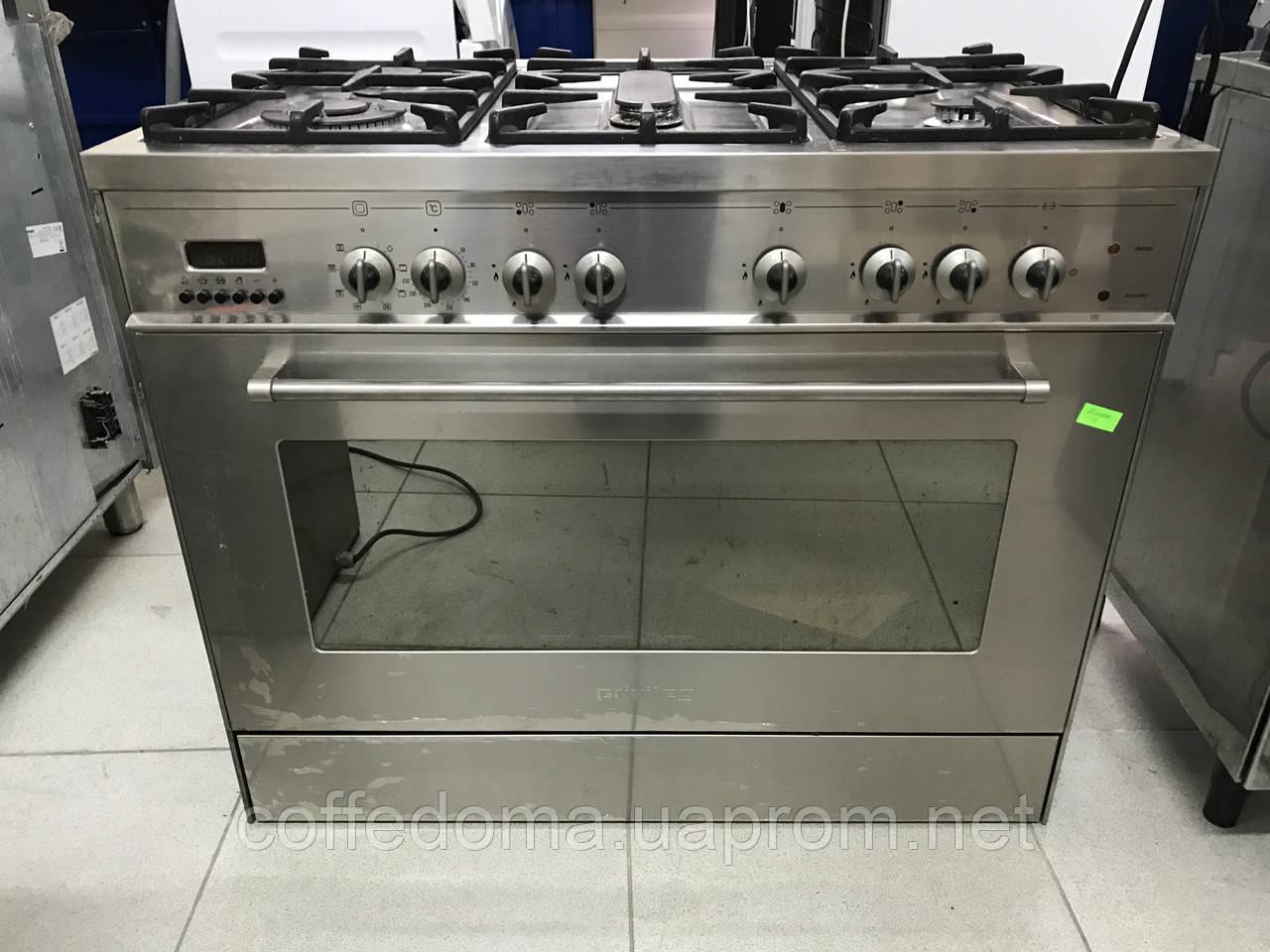 Privileg профессиональная газовая плита на 5 горелок с конвекцией