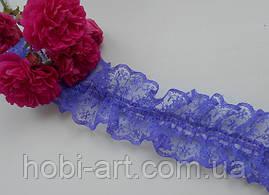 Кружево  4 см на резинці   №04 Синє
