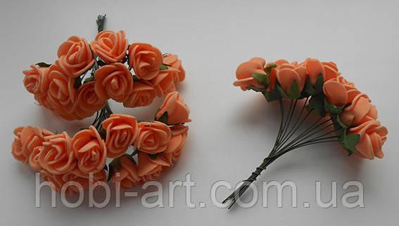 Троянда латексна оранжева 15мм
