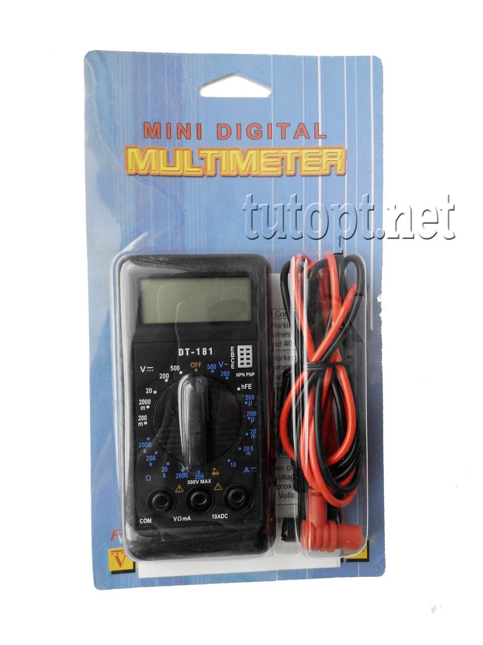 Мультиметр 181 (Тестер), типы измерений - DCV, АCV, DCA.