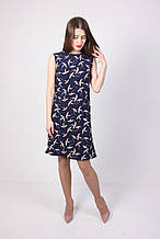 Модное платье на лето для девушек в синем цвете