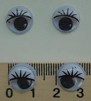 Очі для іграшок, 12мм., 2шт.