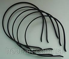 Обруч 5 мм метал + атлас  № 04  чорний