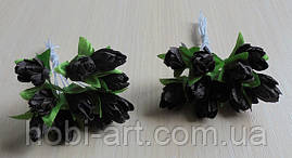 Підсніжник (пучок 10 шт)  № 06 коричнево-чорні