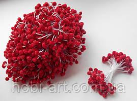 Тичинка в цукрі 4-5мм  № 04 червона, 50 ниток, 100шт. (ТІ-069)