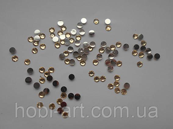 Стрази 5 мм, 4г (200шт.+/-5%) № 08 прозоре золото