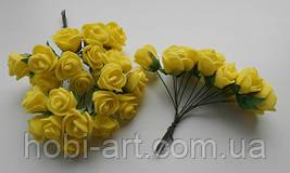 Троянда латексна жовта 15мм