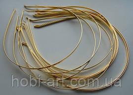 Обруч металевий золотий 3мм.