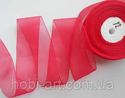 Стрічка органза 40 мм  № 12 червона
