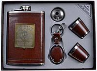 Подарочный набор Jeam Beam 5 в 1: фляга/стопки/лейка/брелок