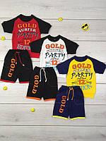 Костюм комплект Голд для мальчика, футболка и шорты, хлопок, р.р.26-34, фото 1