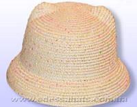 Детская летняя шляпа  поля трансфомер 4 см с ушками
