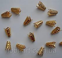 Обниматель бусин № 10 (OG-002), 16мм (колір золота)