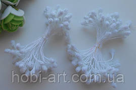 Тичинка в цукрі 4-5мм  № 01 біла, 50 ниток, 100шт. (ТІ-676)