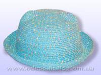Детская шляпа  поля трансфомер 4 см с ушками