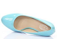 Лаковые женские туфли синего цвета размеры 36