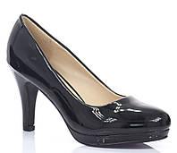 Польские женские туфли чёрного цвета