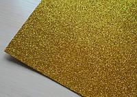 Фоаміран з глітером   А5  №  02 золотистий