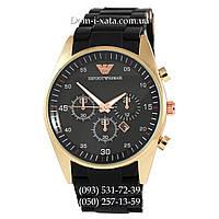 Часы элитные мужские Emporio Armani black-gold, Эмпорио Армани черный-золото