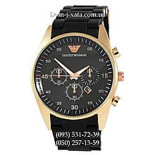 Часы элитные мужские Emporio Armani black-gold, Эмпорио Армани черный-золото, реплика