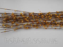 Прутики жовті, 60 см.,  (коричнева основа, ТІ-192)
