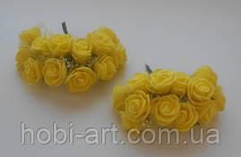 Троянда жовта з фатином (SV-759) 12шт