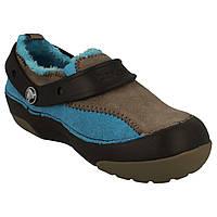 Туфли детские слипоны Кроксы замшевые утепленные / Crocs Kids' Dawson Slip-on Lined Sneaker, фото 1