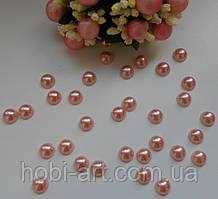 Напівбусина 8мм  (50шт)  № 10 персик