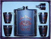 Подарочный набор с флягой Jeam Beam 6 в 1: фляга/стопки/лейка