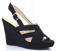 Модные женские босоножки чёрного цвета на лето