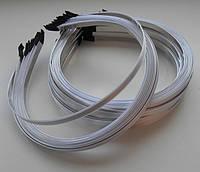Обруч 7мм метал атлас білий