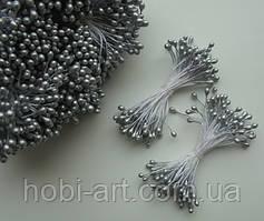 Тичинка лакова № 4  (2-3мм), 100шт срібляста (ТІ-285)