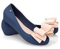 Синие, резиновые балетки от производителя с Польши