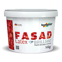 Фасадная краска KOMPOZIT FASAD LATEX 1.4кг - Атмосферостойкая, латексная краска для фасадных работ