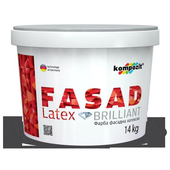 """Фасадная краска Kompozit Fasad Latex 7кг - Color-City """"Самые Низкие Цены на Стройматериалы""""  в Одессе"""