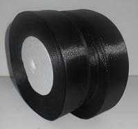Стрічка атласна 26мм 33м  чорна