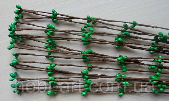 Прутики зелені 65 см (коричнева основа TI-190)