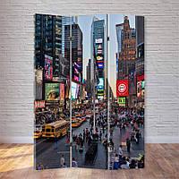 """Ширма декоративная """"Таймс-сквер. Нью Йорк"""""""